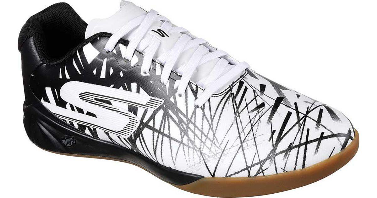 212671688 Skechers Performance Soccer Leverage Powerplay Indoor Shoe in White for Men  - Lyst
