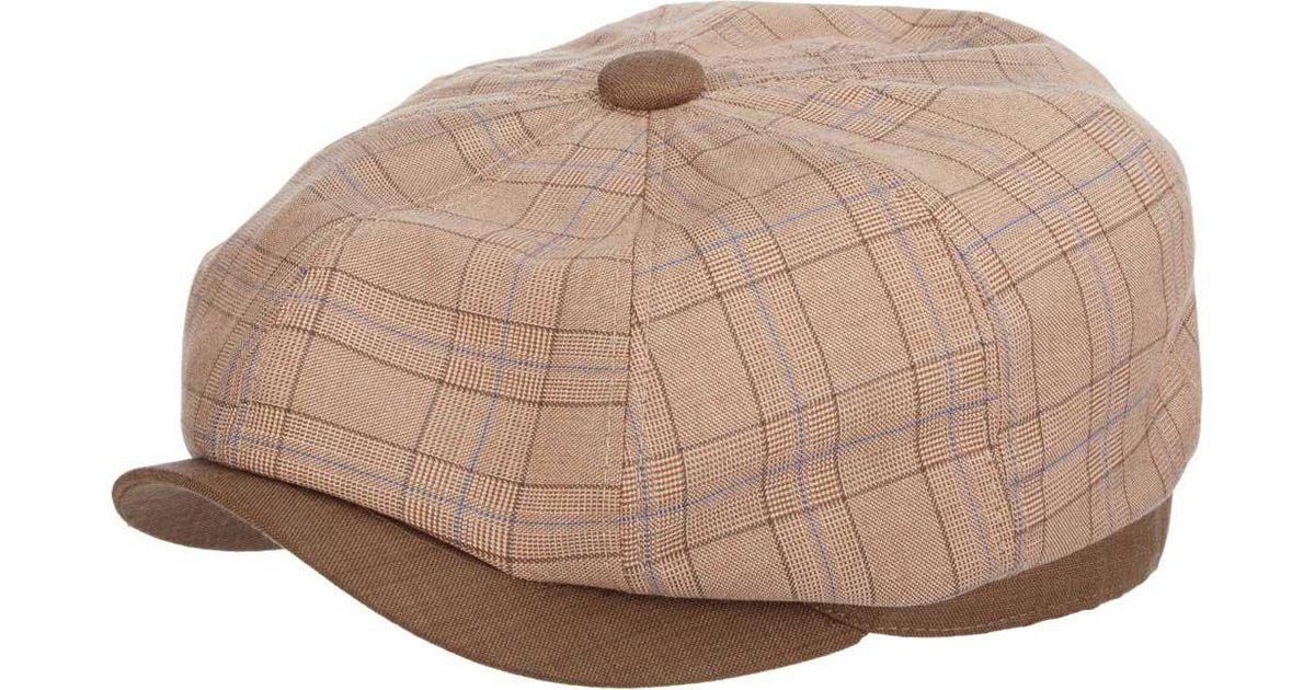 6dc683a3dbd Lyst - Stetson Stc299 Plaid Newsboy Cap in Brown for Men