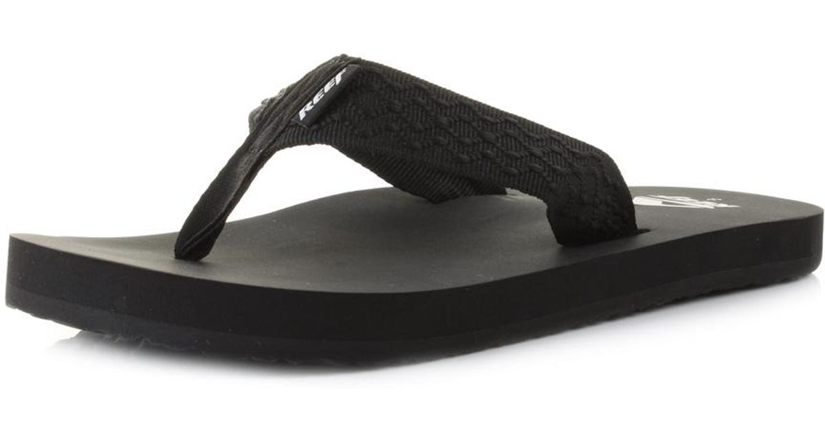 c8e86e34830db7 Reef Smoothy Flip Flops in Black for Men - Lyst