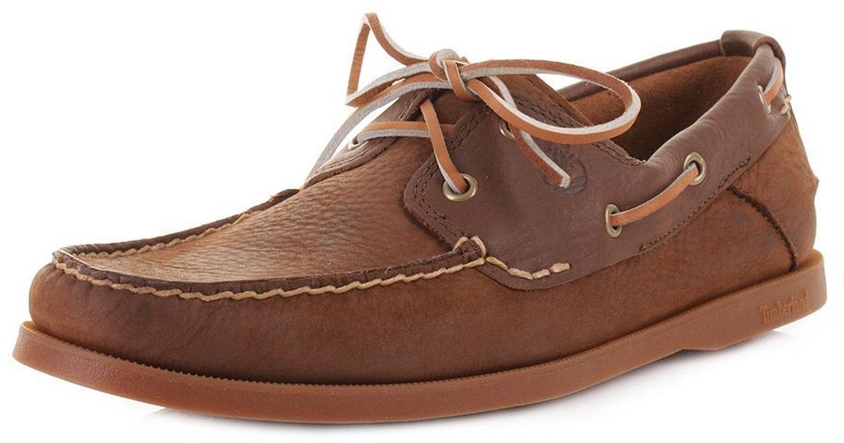 e8660935489eda Timberland 2 Eye Earthkeepers Heritage Boat Shoes in Brown for Men - Lyst