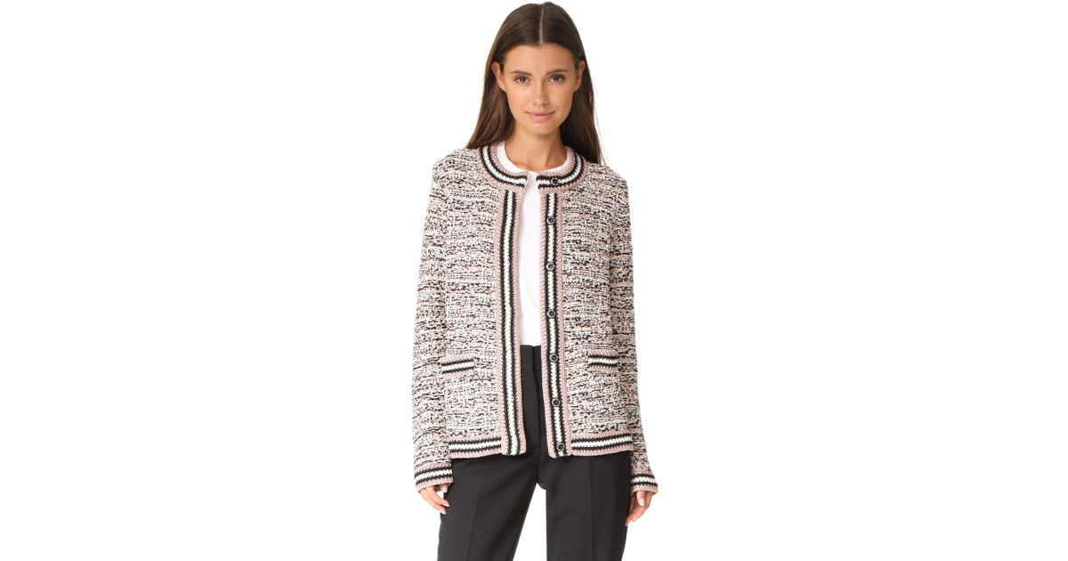 e0ab9309ba Lyst - M Missoni Tweed Cardigan Jacket in Black