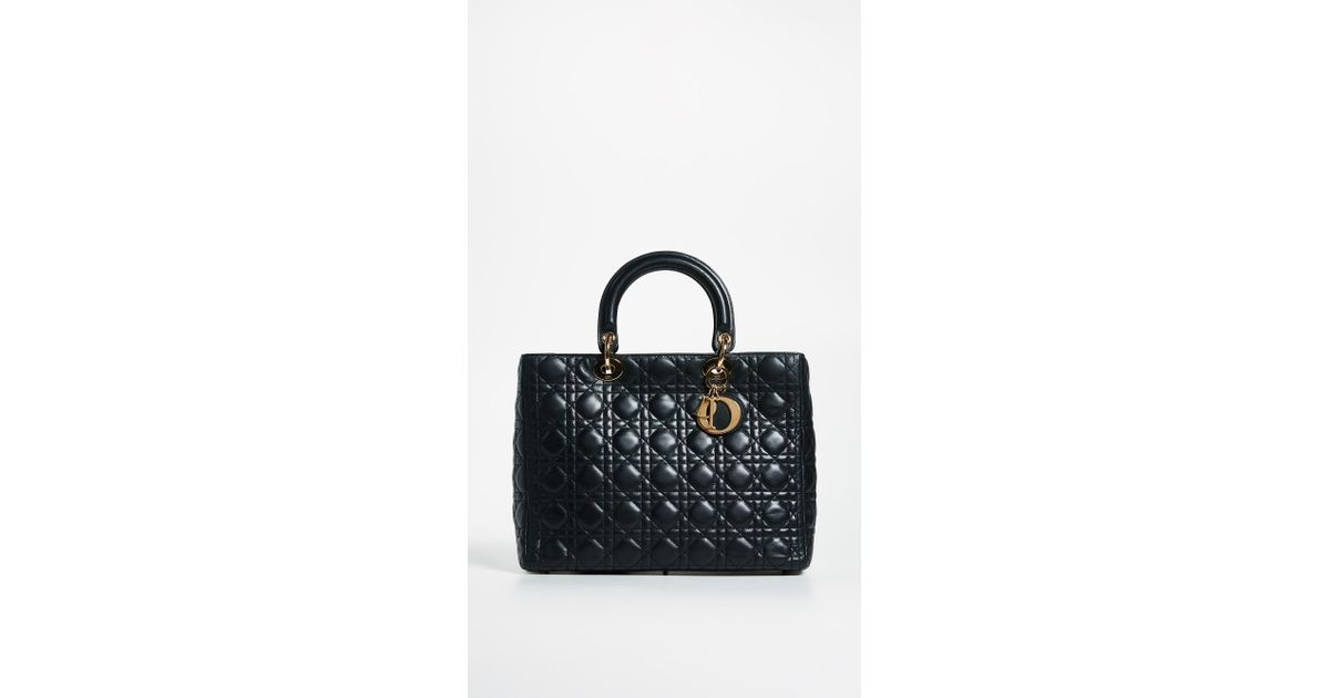 4e82ed58e926 Lyst - What Goes Around Comes Around Dior Lady Dior Bag in Black