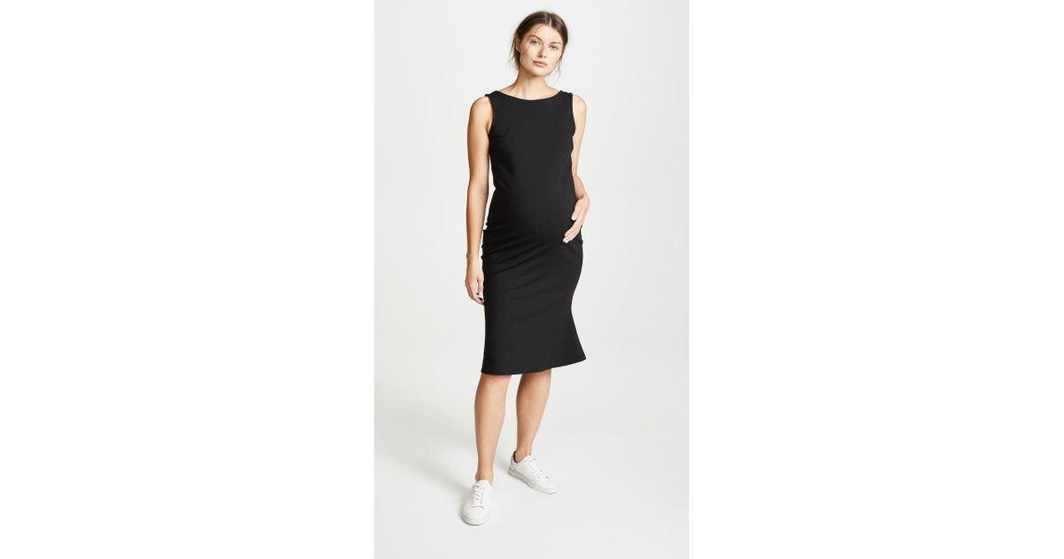 3fea6cc1bafa8 Ingrid & Isabel Tulip Hem Ponte Maternity Dress in Black - Lyst