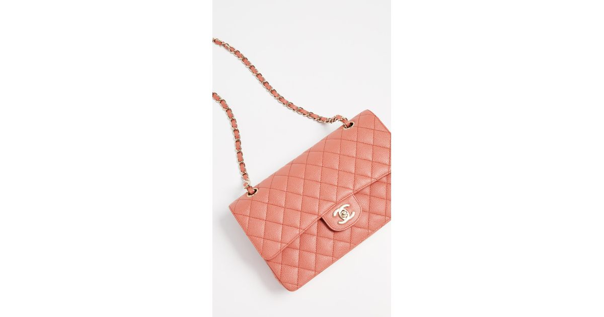 4852af908233 What Goes Around Comes Around Chanel Pink Caviar Shoulder Bag in Pink - Lyst