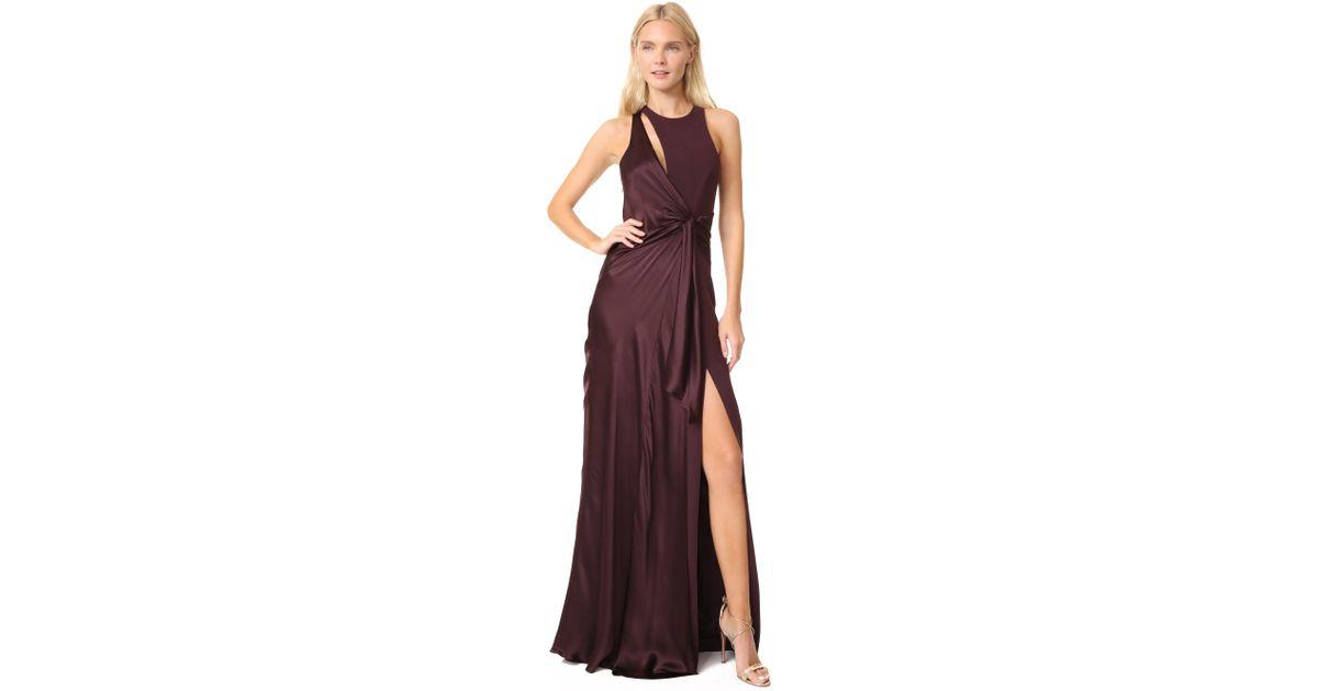 Lyst Cinq à Sept Clemence Gown In Purple