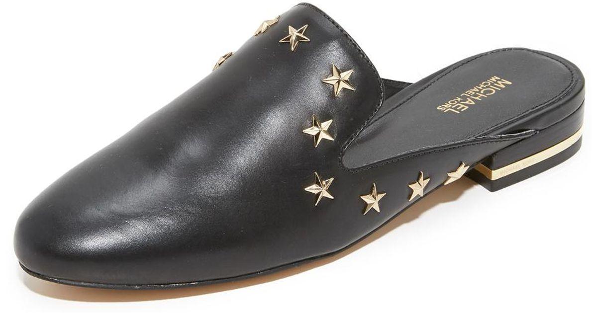 54a540615111 MICHAEL Michael Kors Natasha Star Studded Mules in Black - Lyst