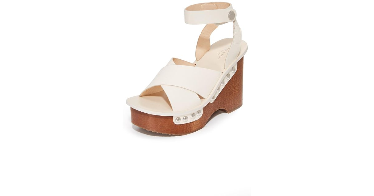 e395a7e7dab Rag   Bone Hester Platform Sandals in White - Lyst