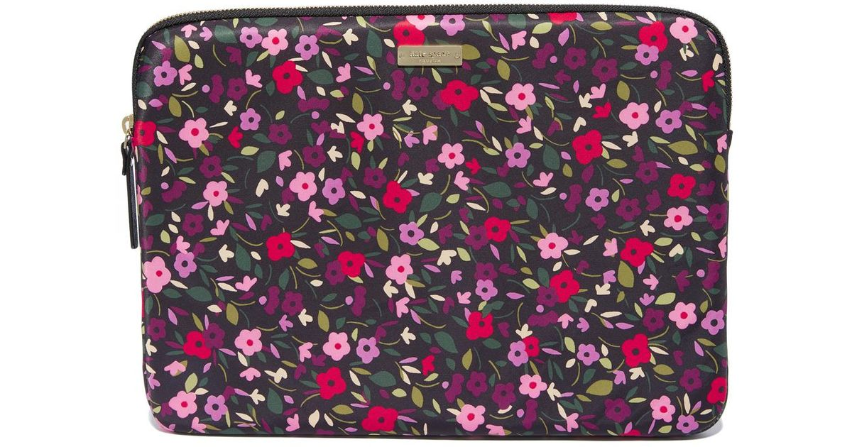fantastic savings the cheapest new products Kate Spade Black 13 Inch Boho Floral Laptop Sleeve
