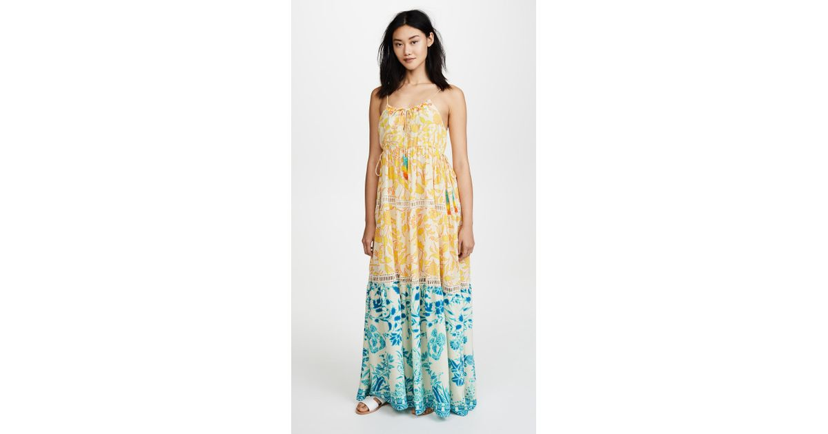 54e8a1c5200 Lyst - Hemant   Nandita Clarion Maxi Dress in Yellow