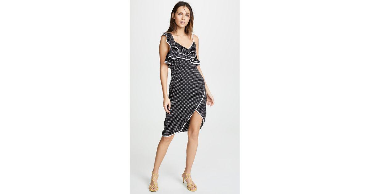 315c6db3eefa MINKPINK Vienna Spot Frill Dress in Black - Lyst
