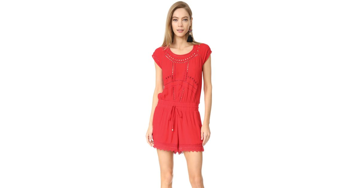 4eae0b4d08 Ella Moss - Red Broderie Anglaise Romper - Lyst