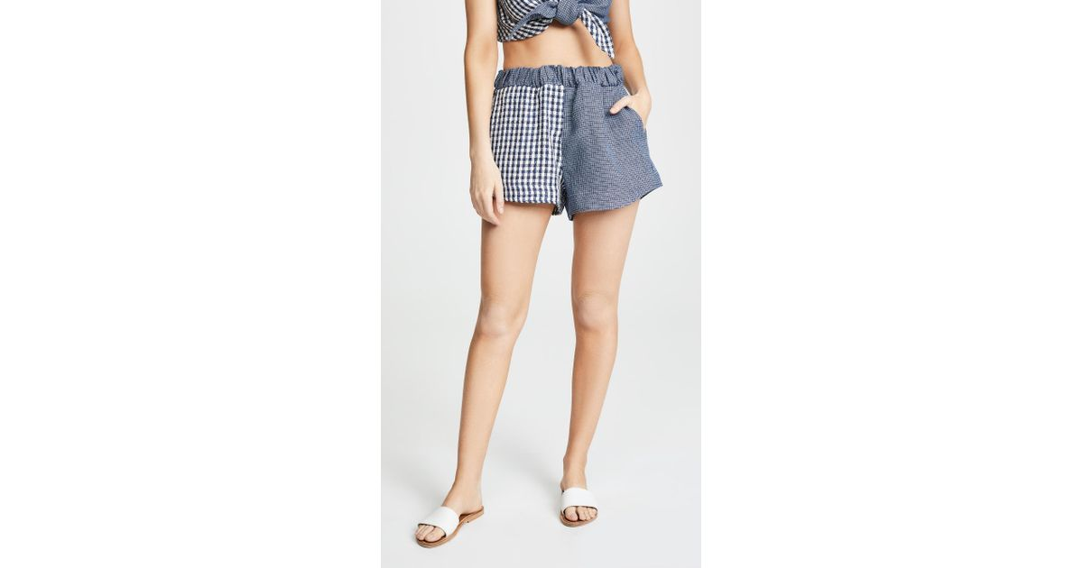 4bcb94a91b1c Lyst - Simon Miller Nyssa Shorts in Blue