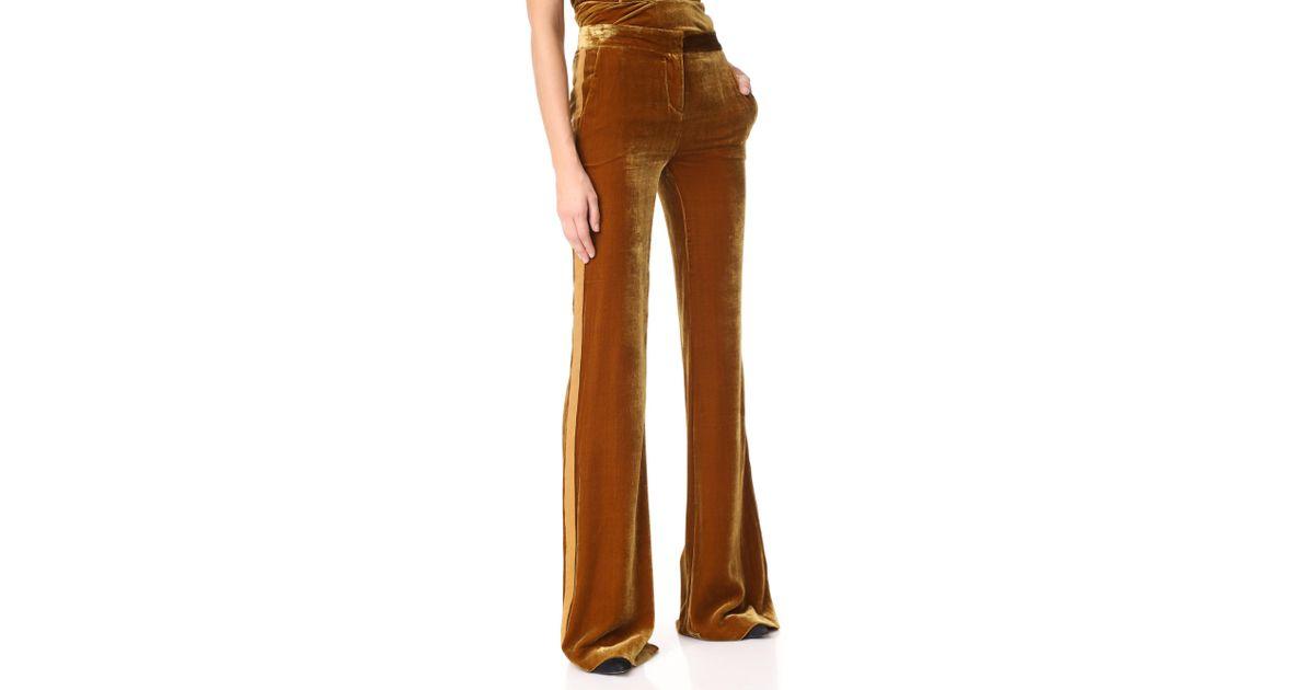 0027b1ceca71 Veronica Beard Ramsey Wide Leg Tux Pants in Metallic - Lyst