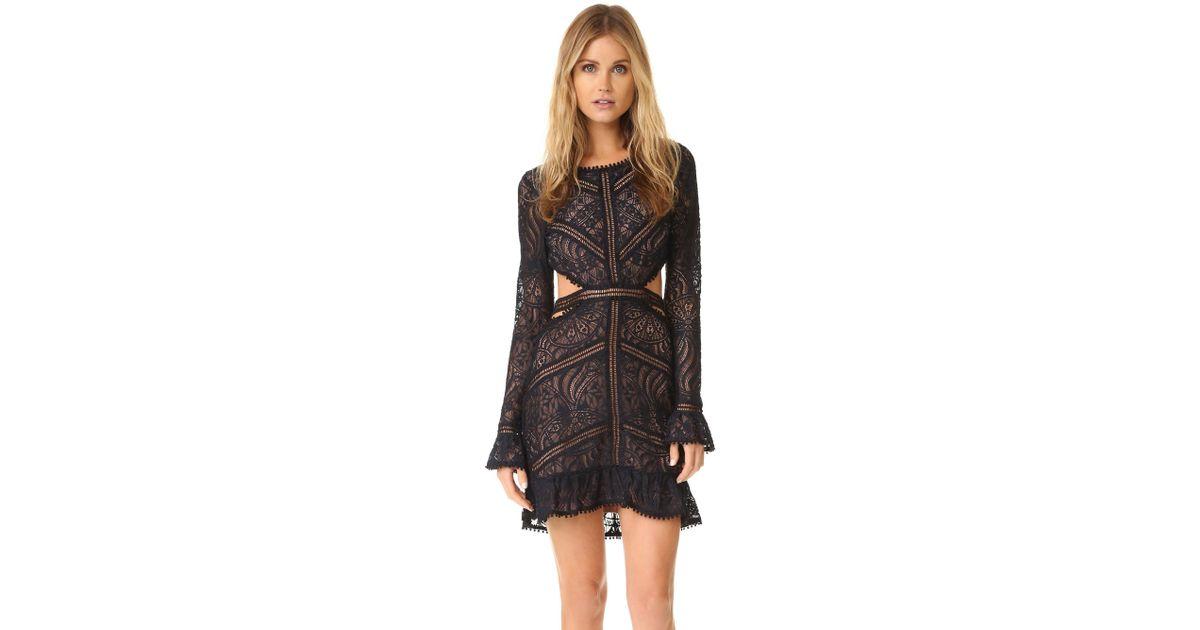 8e9c584ae4a70 For Love & Lemons Emerie Cut Out Dress in Black - Lyst