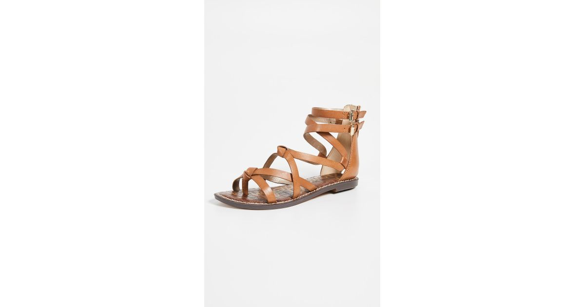 38a79f351 Sam Edelman Gaton Sandals in Brown - Lyst