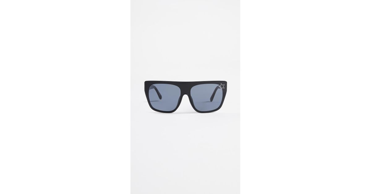 0e7839779f Lyst - Stella McCartney Rectangular Sunglasses With A Masked Lens in Gray