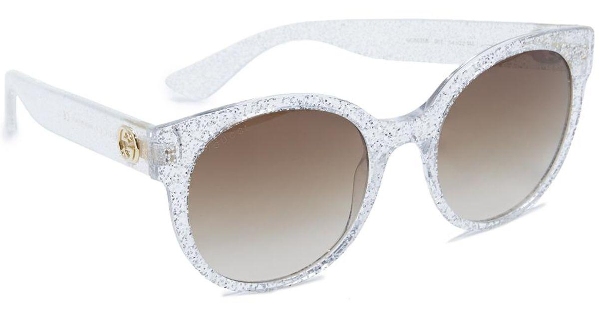 e9dcd6f0eda Lyst - Gucci Urban Pop Round Sunglasses