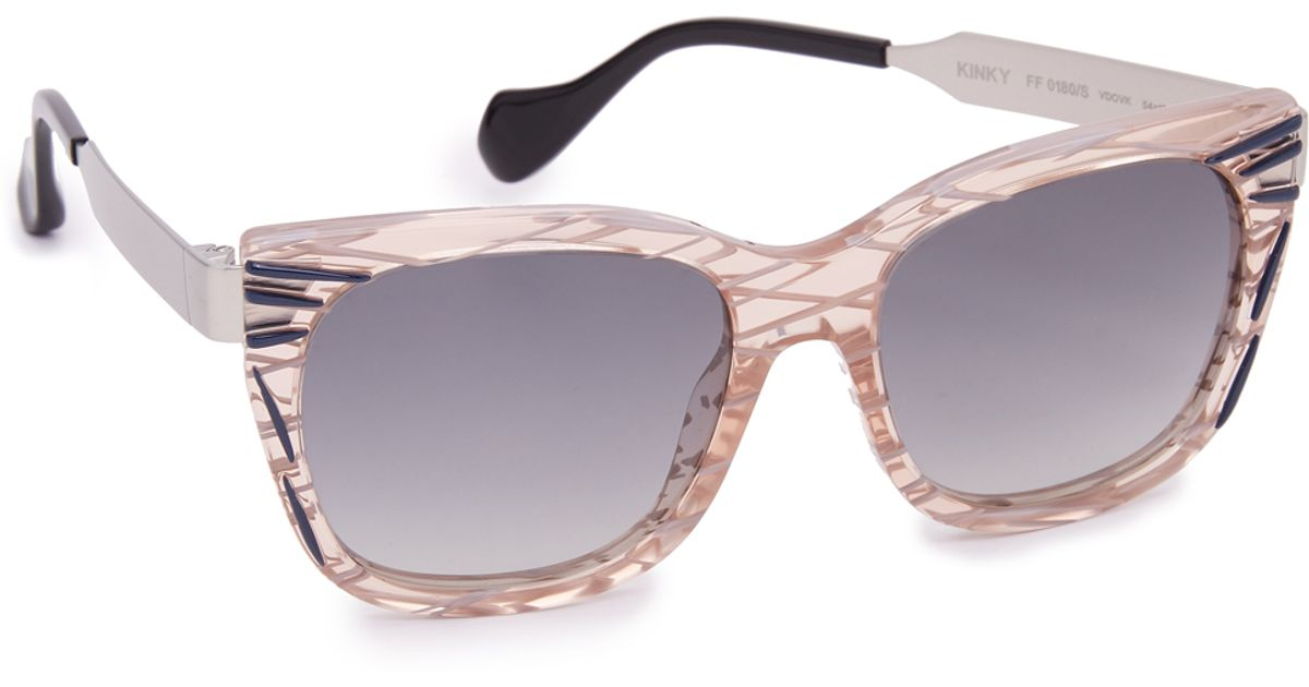 79fa7a0ec66a Lyst - Fendi Thierry Lasry X Kinky Sunglasses in Gray