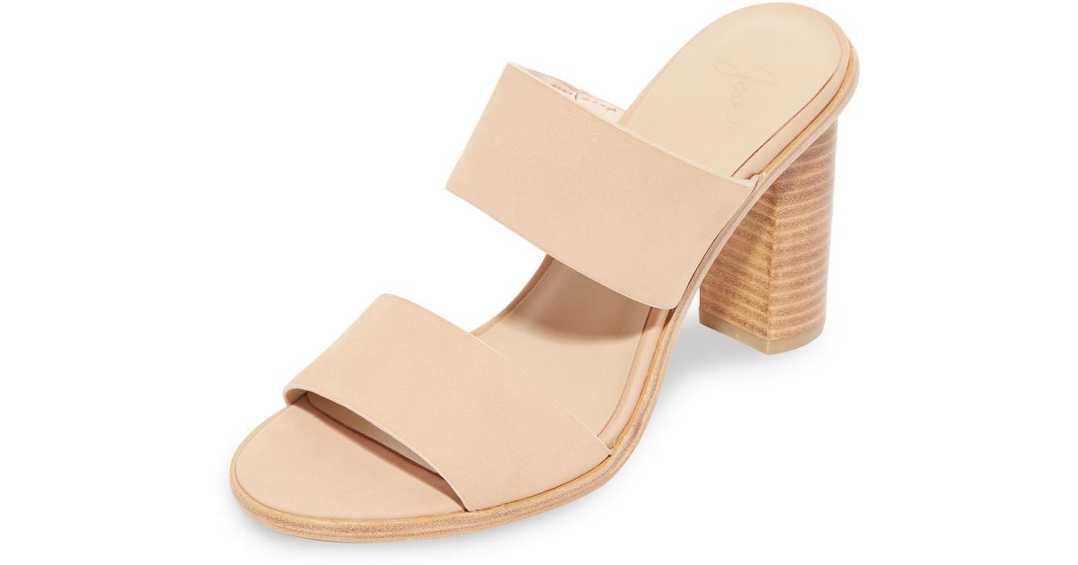 520d7e3172f8 Lyst - Joie Banner Heel Sandals in Natural
