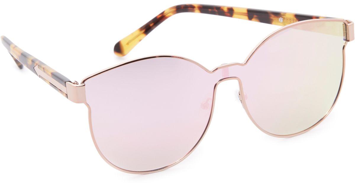 54a45f80f0d1 Lyst - Karen Walker Star Sailor Superstar Sunglasses in Pink