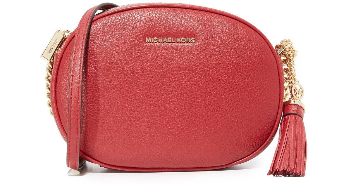 ce5b502d21af1 Lyst - MICHAEL Michael Kors Medium Ginny Messenger Bag in Red
