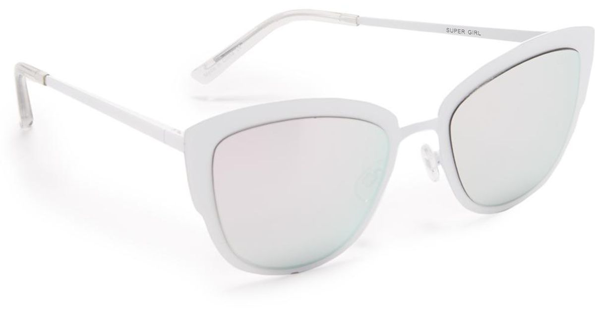 322be56b4b Quay Supergirl Sunglasses in White - Lyst