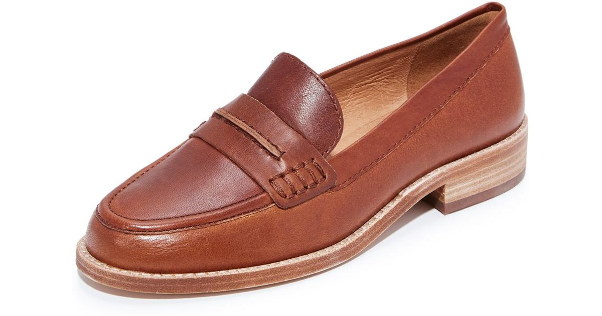80ac4d0e59f Lyst - Madewell Elinor Loafers in Brown