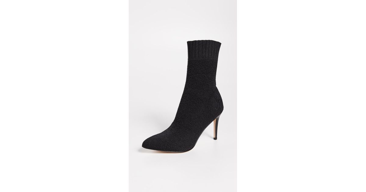 8d46f3392 Lyst - Sam Edelman Oksana Sock Booties in Black