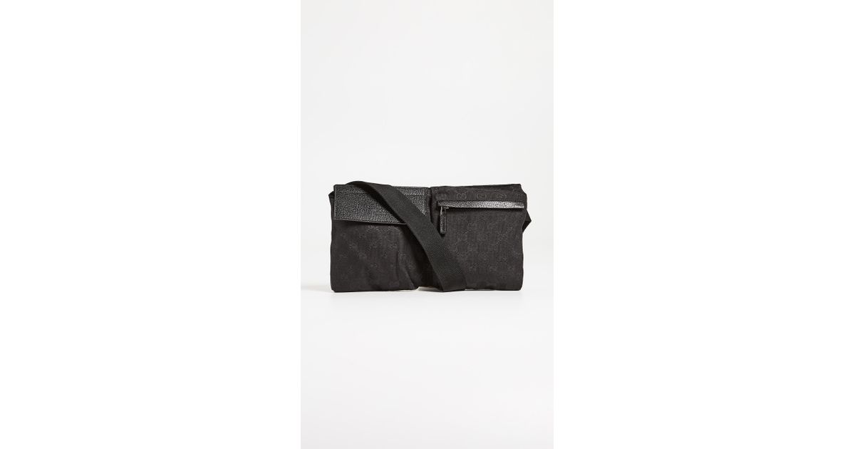 802189c7aaaa Lyst - What Goes Around Comes Around Gucci Waist Pouch in Black