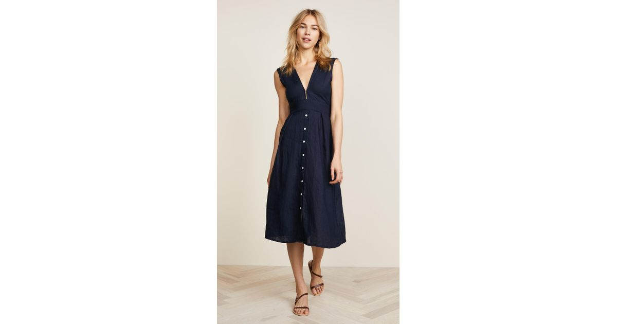 594a62bf692 Lyst - Faithfull The Brand Le Roch Midi Dress in Blue