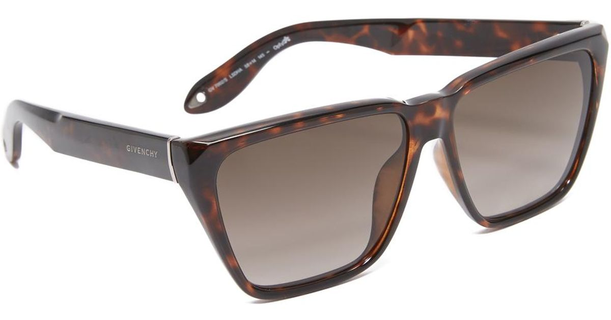 4f1b4c38e8 Lyst - Givenchy Flat Top Sunglasses in Brown - Save 1%