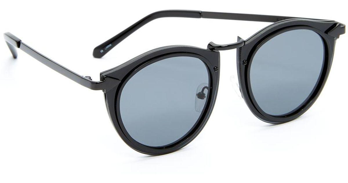 1df8e546a81e Karen Walker Harvest Sunglasses Black Source · Lyst Karen Walker Superstars  Solar Harvest Sunglasses in Black