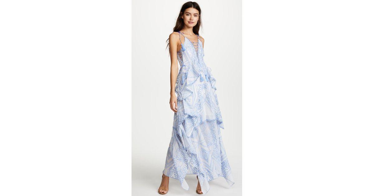 51d0b3c147da Thurley Positano Princess Maxi Dress in Blue - Lyst