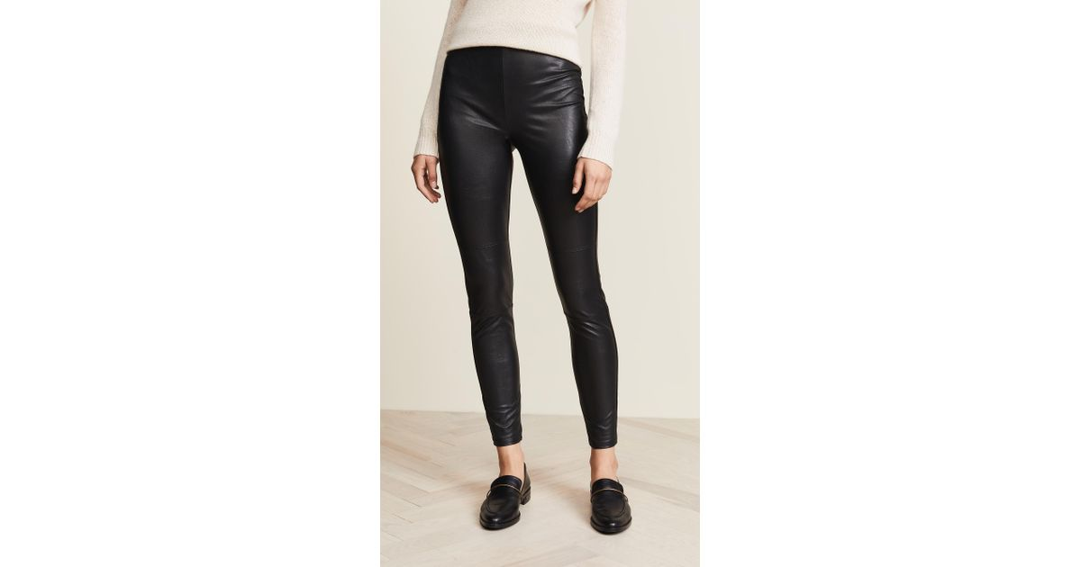 2ba39a6d811930 Lyst - Splendid Downtown Faux Leather Leggings in Black