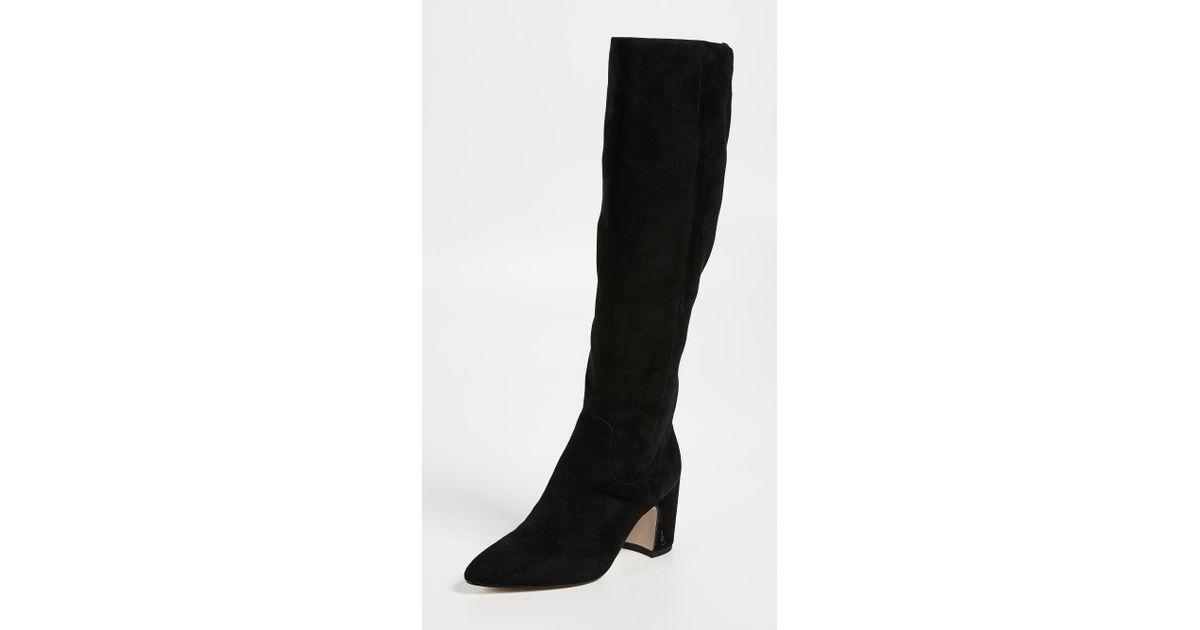 f48ab9ade Lyst - Sam Edelman Hai Tall Boots in Black