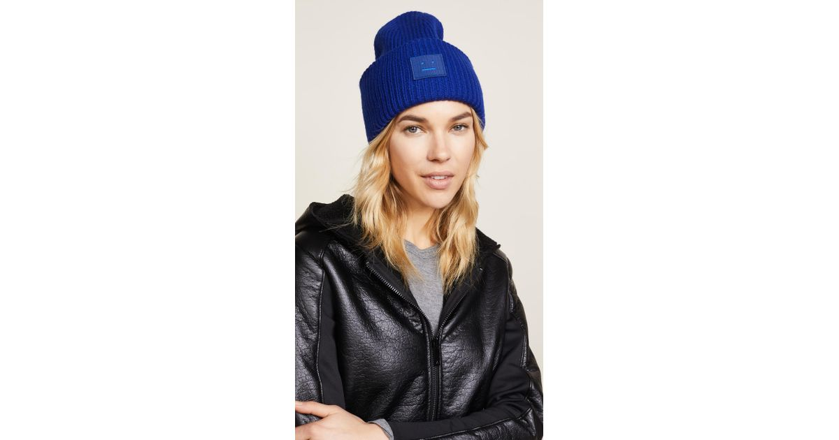 46ab908a5d7 Lyst - Acne Studios Pansy S Face Hat in Blue