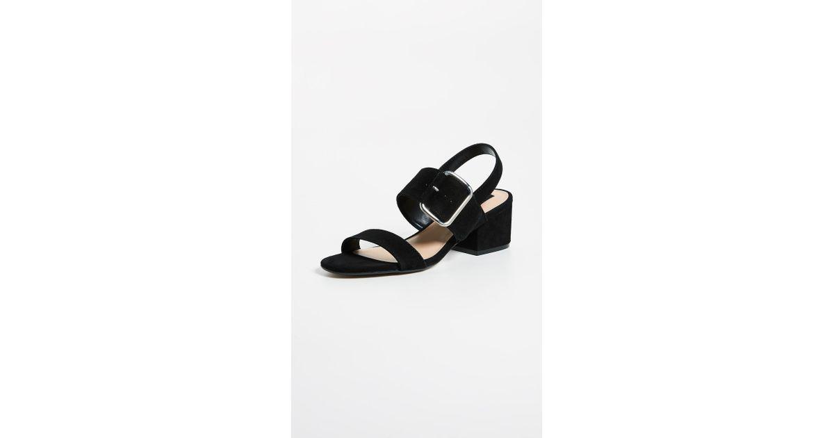 202af984447f Lyst - Steven by Steve Madden Fond Heeled Sandal in Black - Save 46%