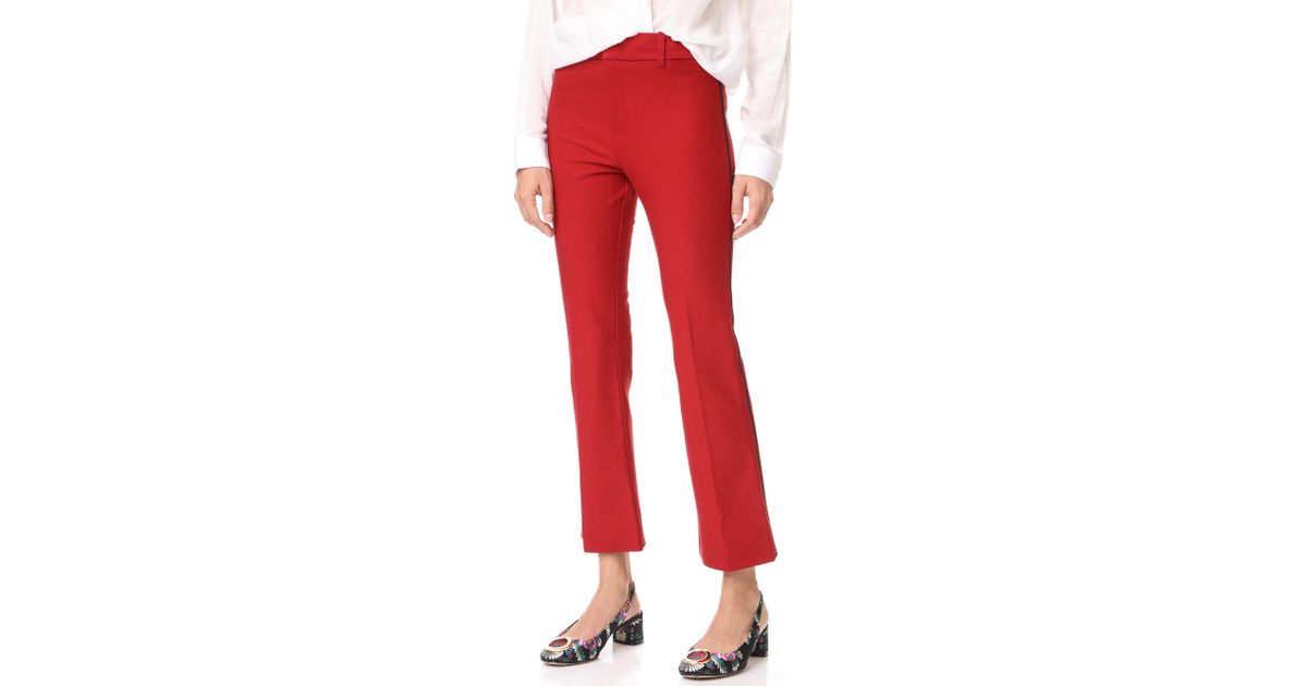 10 Crosby Derek Lam Cropped Flare Trousers With