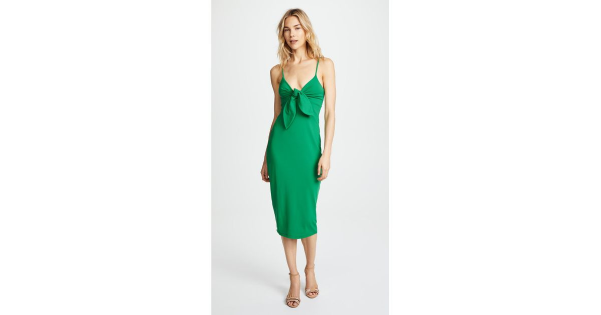8c6744405a83 Lyst - Susana Monaco Isadora Bow Detail Midi Dress in Green