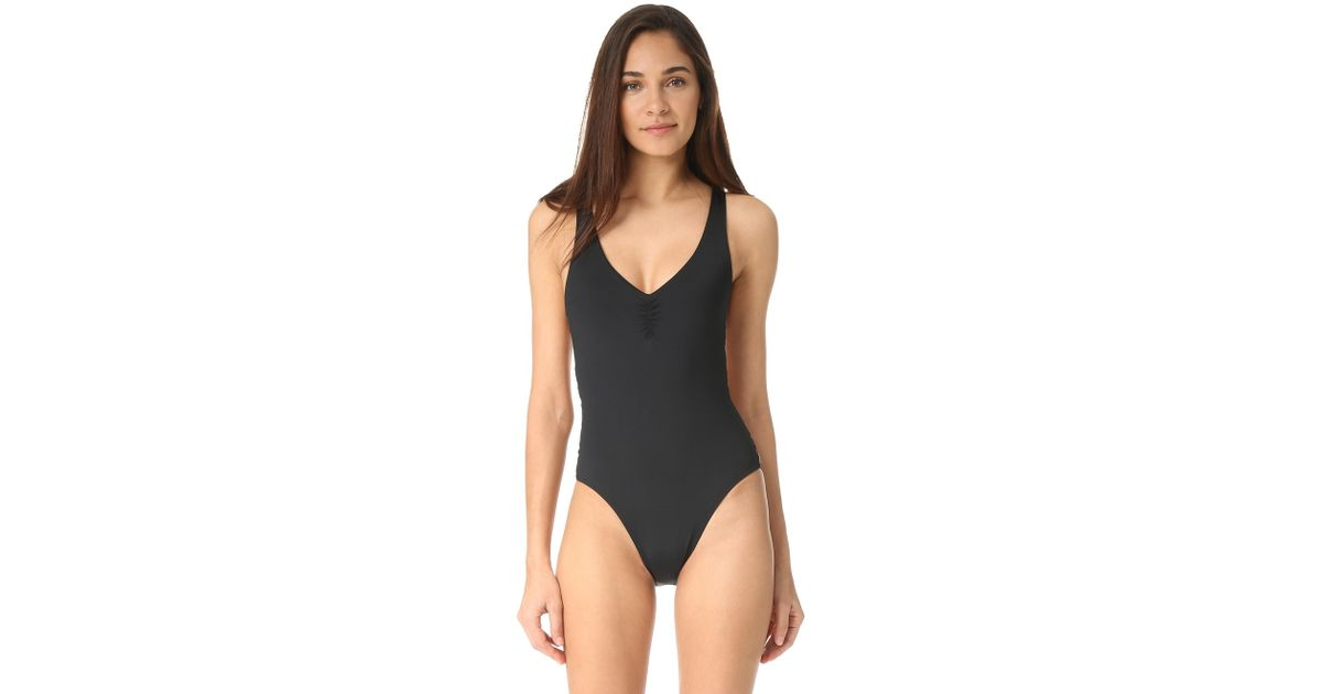 7e5601cae8 L*Space Maios Ricki One Piece in Black - Lyst