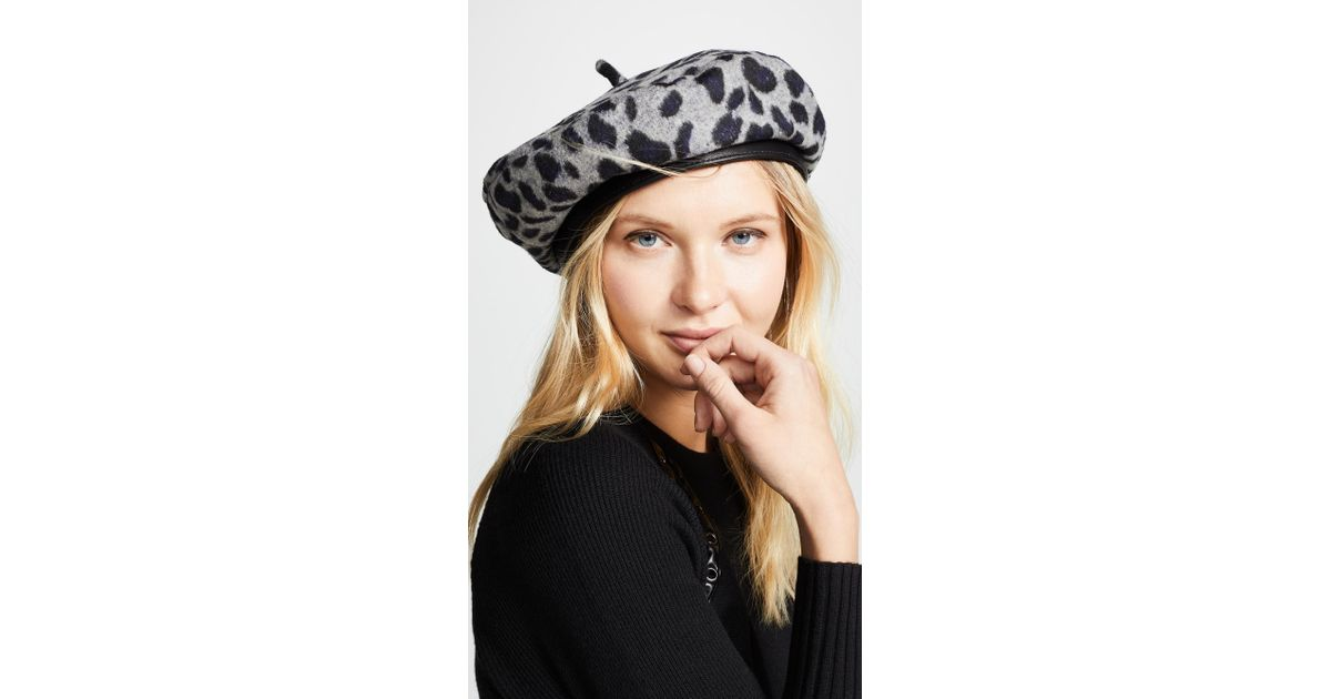 919dbaaec3376 Lyst - Brixton Audrey Beret Hat in Gray