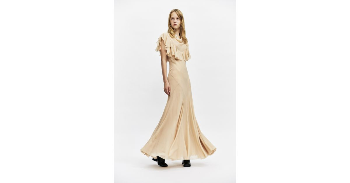 6eeeb484c4 Maison Margiela Nude Georgette Dress in Natural - Lyst