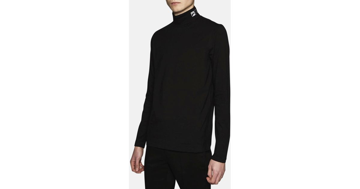 580eca3b96c90 Gosha Rubchinskiy Fila Roll Neck T-shirt in Black for Men - Lyst