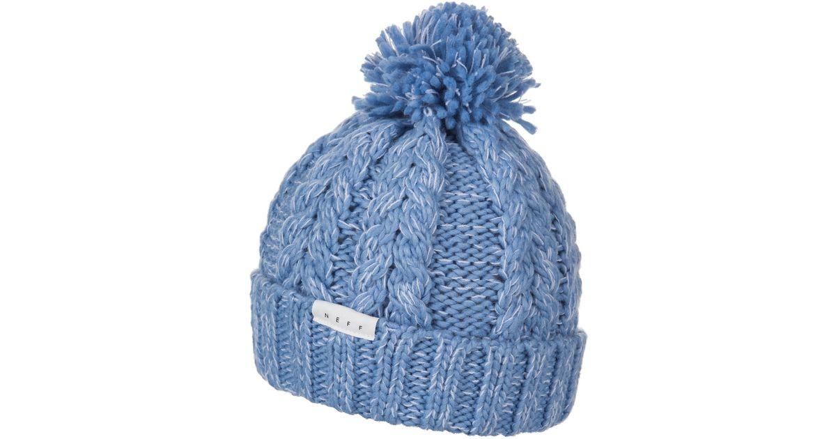 Lyst - Neff Kaycee Beanie (for Women) in Blue 8b4cb277bd9