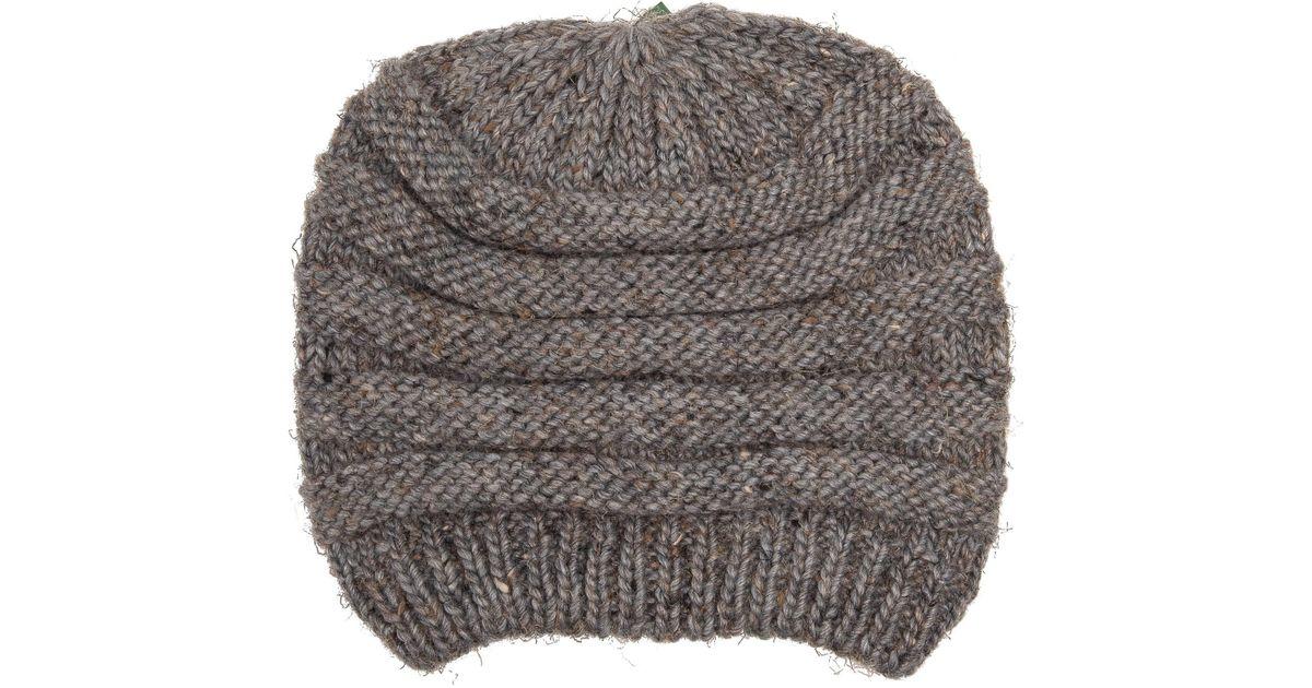 d4370a4e2 Woolrich Gray Raised Stitch Knit Cloche Beanie (for Women)