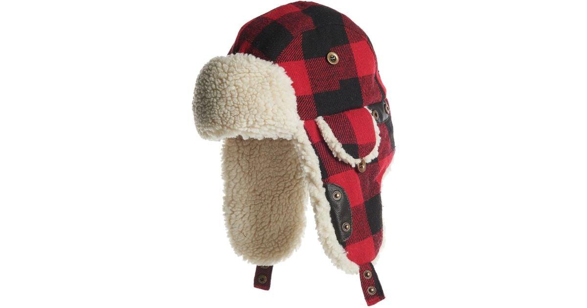 e2b0fd48254 Lyst - Woolrich Wool Blend Aviator Hat (for Men) in Red for Men