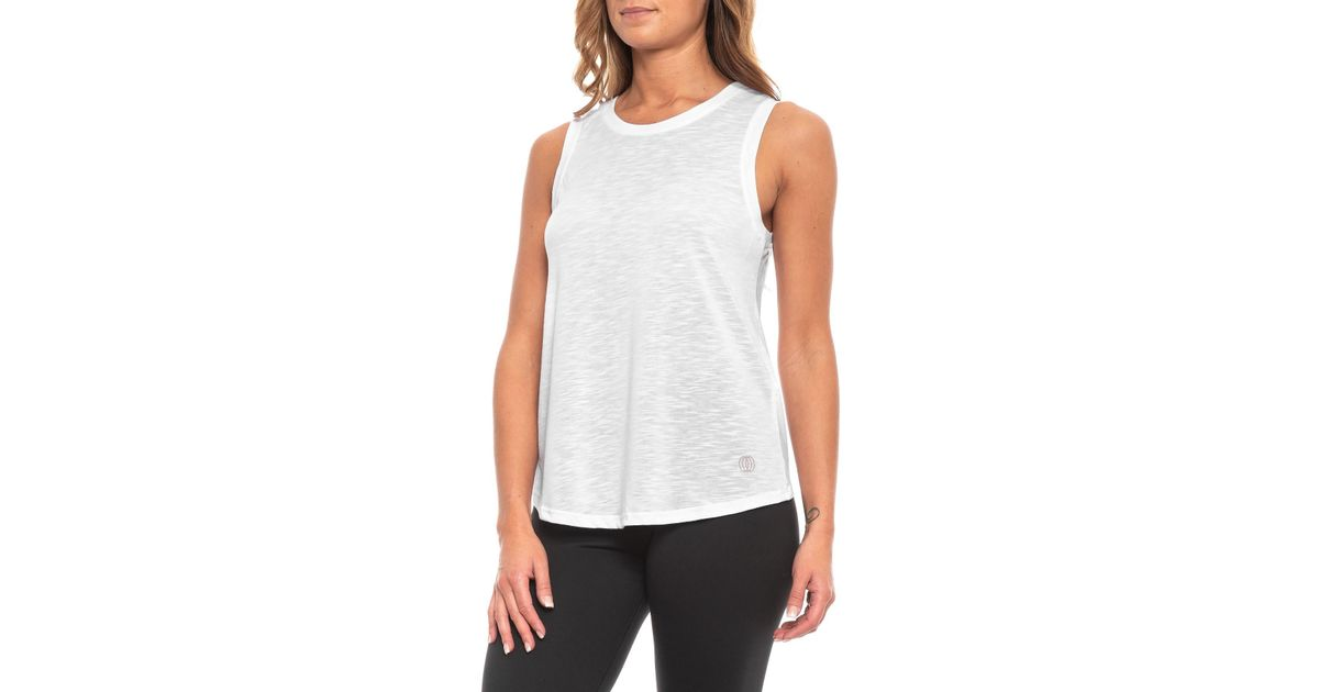 4a57b45b24bdcc Lyst - Balance Collection Canyon Singlet Tank Top (for Women) in White