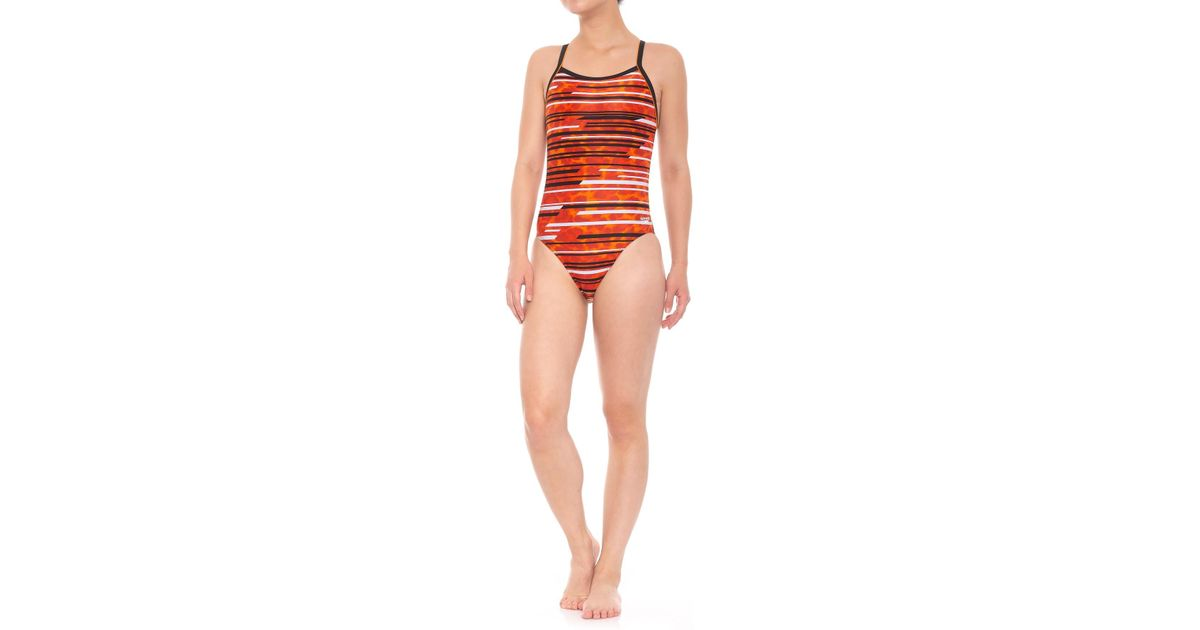 a91ef29428 Lyst - Speedo Powerflex Eco Got You Flyback Competition Swimsuit (for  Women) in Orange