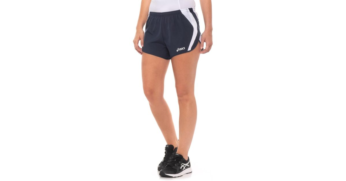 62a71feb240 Asics Squad Split Shorts (for Women) in Blue - Lyst
