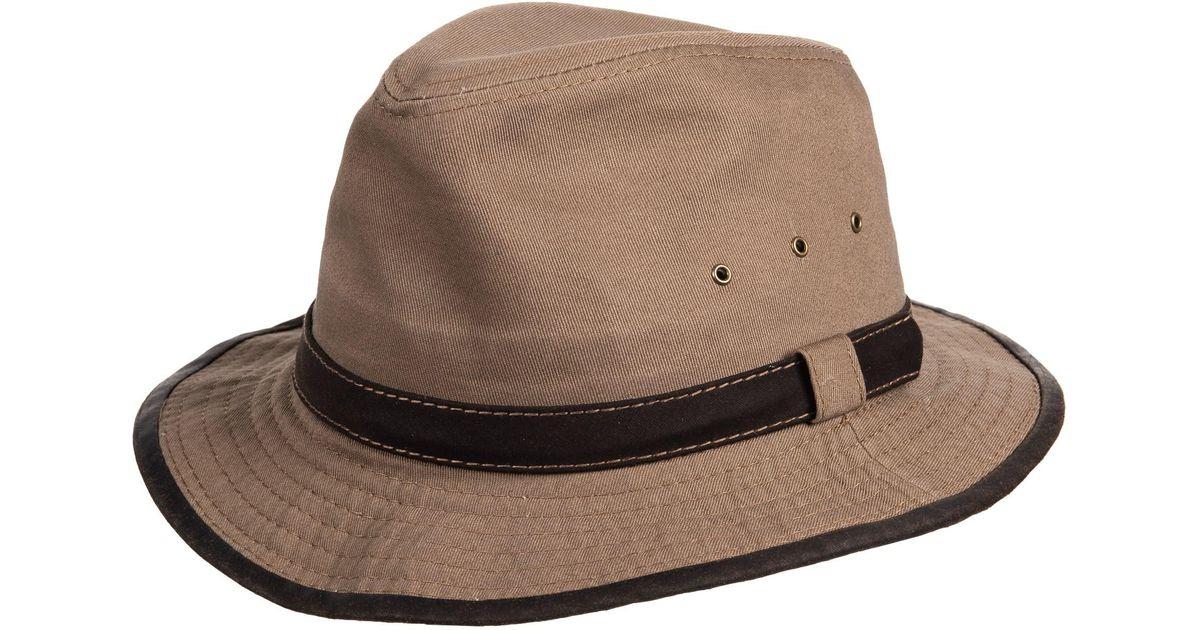 44e8b54ccbf6d2 Lyst - Dorfman Pacific Garment Washed Twill Safari Hat in Brown for Men